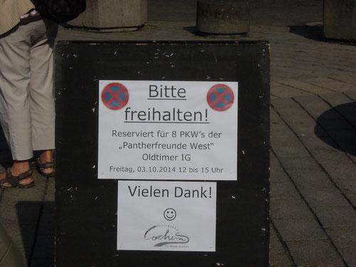 Mehr gibt es dazu nicht zu sagen! Schönster Parkplatz in Cochem! Dank auch an die Cochemer!