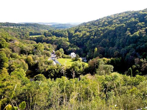 Blick vom Turm:Dort unten unsere Mühle!