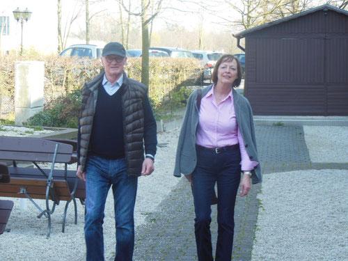 Hatte eine längere  Anfahrt: Ina & Hermann aus Ost-Friesland