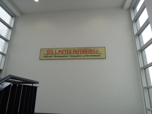 """altes Schild"""" Meyer-Werft"""""""