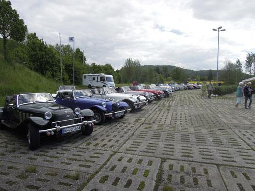 Parkplatz an der Mock Brücke.