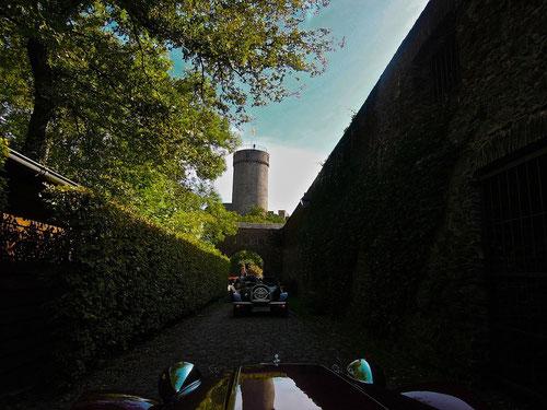 nach einer kleinen Tour erreichten wir die Burg Pyrmont
