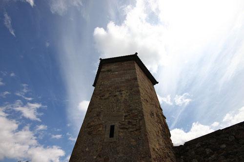 Der letzte Turm der Burg! Übrigens: für die Unkreativen unter uns: tolles Motiv!