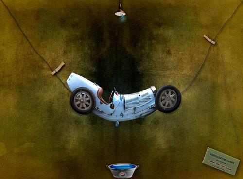 Ein Bugattifreund wünschte sich seinen T 35 mal irgendwie anders! After the car-wash!