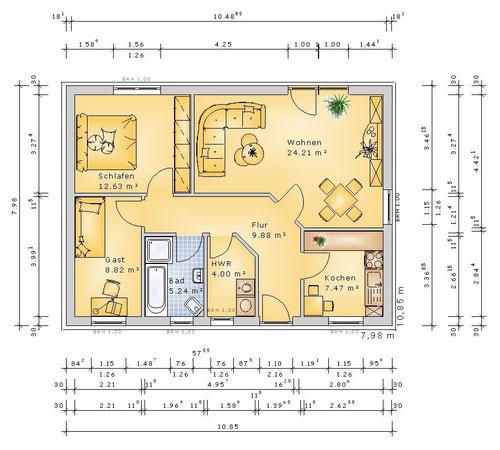 Grundriss Erdgeschoss (klick vergrößern)