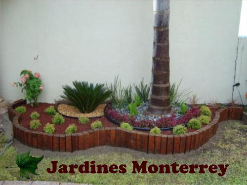 Dise o y construccion de jardines jardines monterrey - Troncos para jardin ...