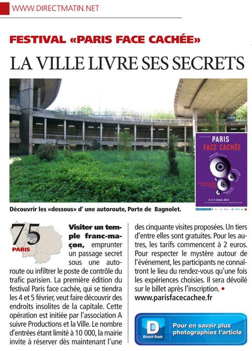 Notre promenade de la Porte de Bagnolet pour illustrer le festival 'Paris Face Caché' auquel nous participons