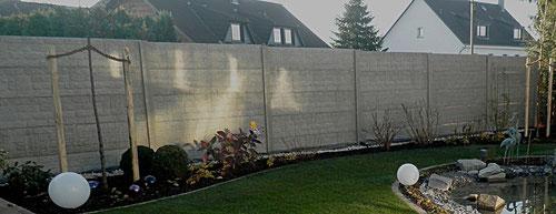 Sichtschutzelemente aus Betonfertigteilen