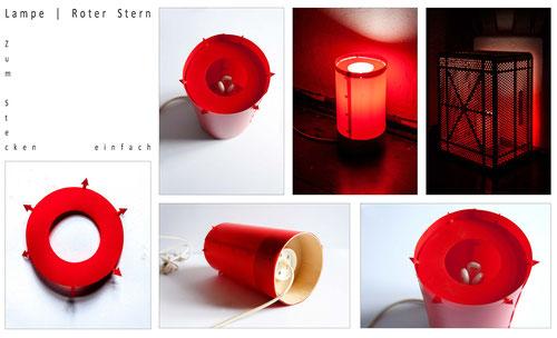 Eine sehr einfache Idee zum Abschirmen einer Leuchte. Gebaut ohne Klebstoff und nur durch Ineinanderstecken der einzelnen Teile. Farbe und Lichtdurchlässigkeit des Lichts ist je nach Materialwahl sehr variabel gestaltbar.