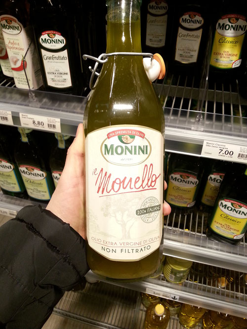 Novello Monini Olivenöl, nicht gefiltertes Olivenöl