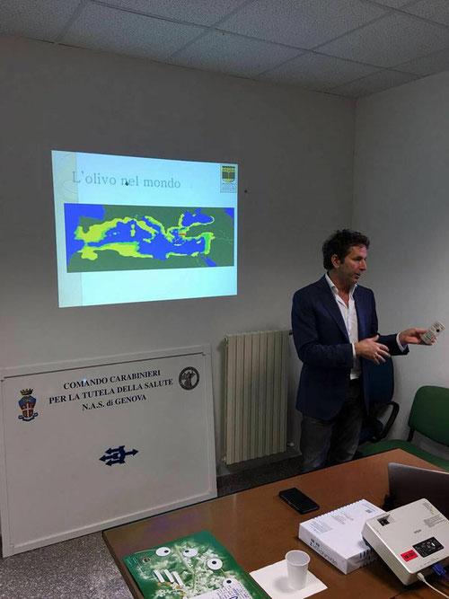 Marcello Soccia zu Besuch bei NAS Genua