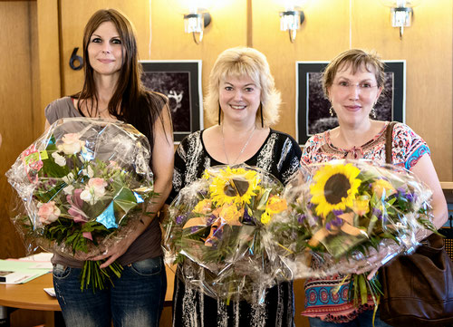 Siegerfoto Frauenpower v.links Landesmeisterin Bettina Dittmann und die beiden Vieze-Meisterinnen Isolde stein-Leibold  neben Susanne Jung