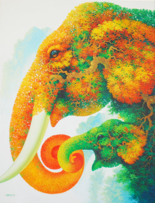 Modernes Elefanten Bild