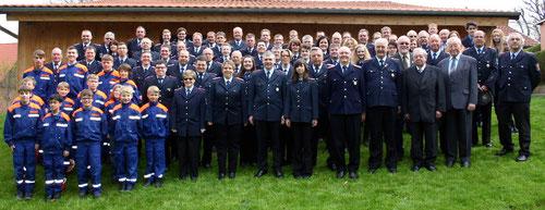 Feuerwehr Sehlem im Jahre ihres 111 jährigen Bestehens