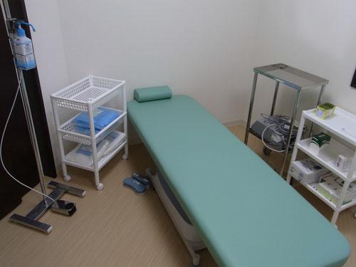 局所麻酔を使う処置のときはここで。