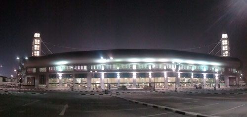 Al-Saad stadium outside night