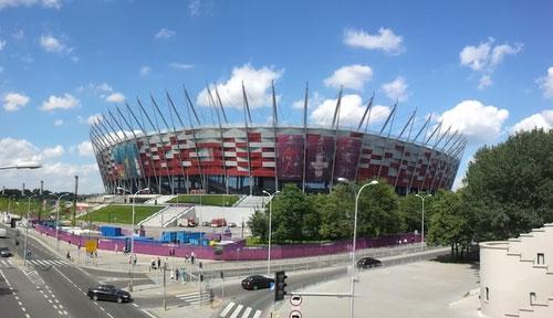 Warszaw stadium outside daylight