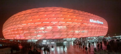 The Allianz Arena at Munich