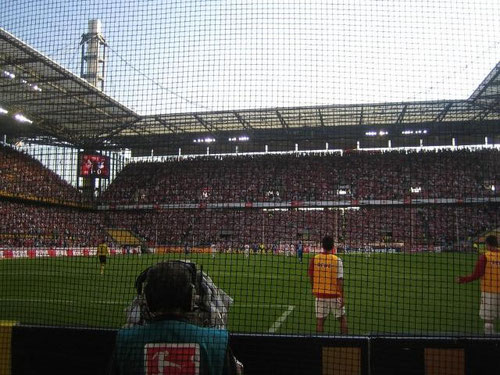 Stadium and crowds on football science Rhein-Energy Stadium Cologne