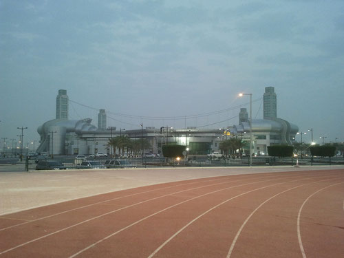 Al-Saad stadium outside day