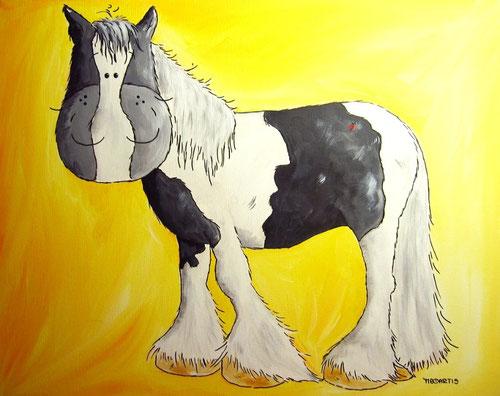 Tinker - Pferdeportrait - Tinkercartoon - Leinwandbild