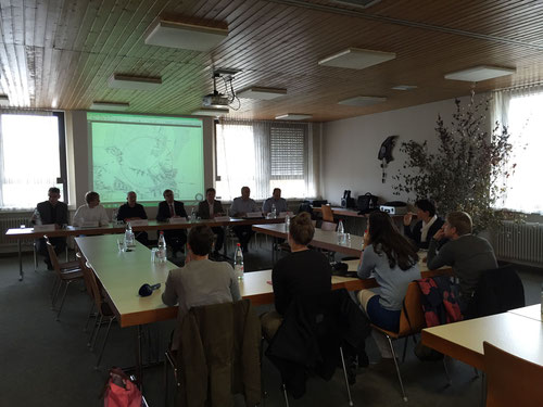 Die Pressekonferenz in unserem Feuerwehrgerätehaus in Wörth
