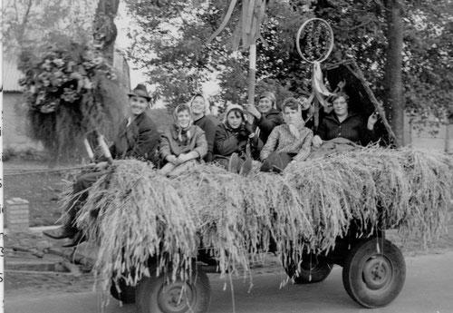 Umzug Erntedankfest 1964 (10 Jahre Landjugendgruppe)