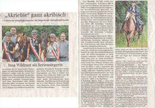 (Siegener Zeitung, 16. Juli 2014)