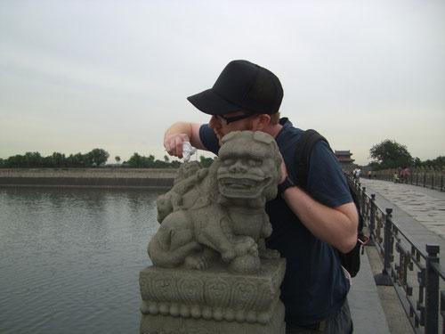 Beseitigung kleinster Verschmutzungen. (Marco Polo Brücke)