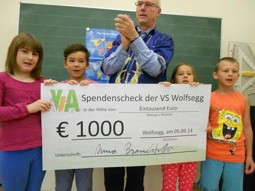 Spendenübergabe an Herrn Diakon Wolfgang Kumpfmüller