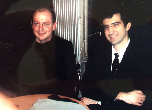Privates Treffen mit Vladimir Kramnik, Weltmeister im Schach, Moskau 2008