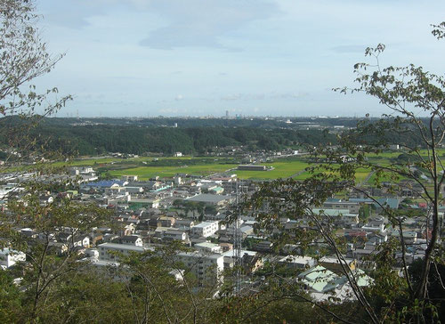 井伊谷城から浜松駅方面