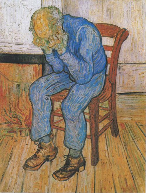 """Vincent Van Gogh, """"Sulla soglia dell'eternità"""" (1890)"""
