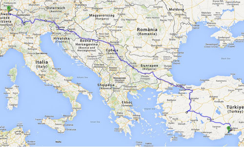 Route until Mersin - Port