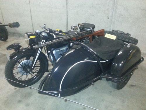 Ancient Swiss Army Motorbike