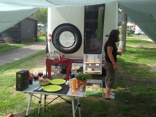Camp Attersee, Essen ist fast fertig!