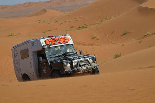 In den Dünen von Erg Chegaga Marokko April 2015