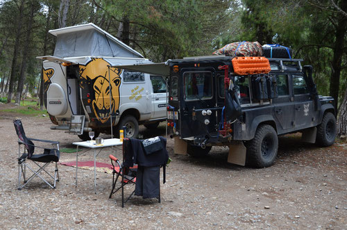 Unser Camp in Chefcaouen