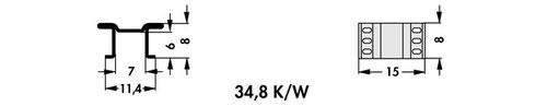 FK 250 08 LF PAK Fischer 表面実装用ヒートシンク(SMTヒートシンク)
