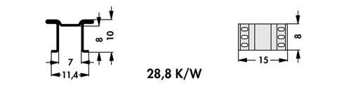 FK 250 10 LF PAK Fischer 表面実装用ヒートシンク