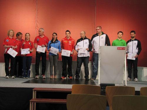 Ehrung der erfolgreichen OÖBGSV-Sportler auf der ORF OÖ Bühne - Sport & Fun 2014