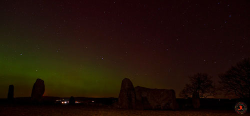 Northern Lights & Loanhead Of Daviot Stone Circle