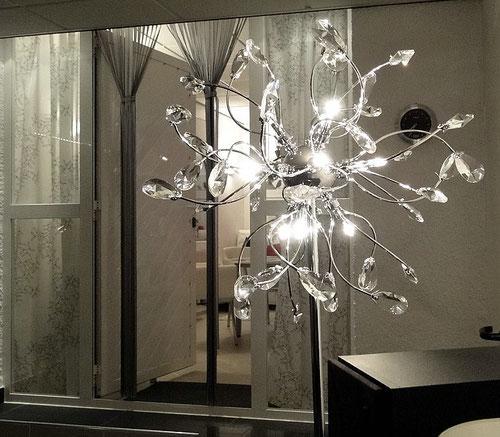 Lampe im Wintergarten