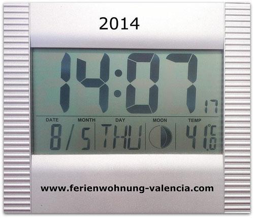 41 Grad am 08.05.2014 in Monterrey, Real de Gandia, Valencia, Spanien