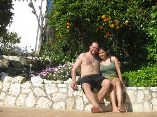 Roalba und Kris Müller, 2012 in der Ferienwohnung Valencia, Spanien, Bildquelle: (c) Rosalba und Kris Müller, Bild zum Kommentar über die Ferienwohnung