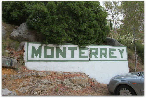 Einfahrt zur Urbanizacion Monterrey, Real de Gandia, Valencia, Spain