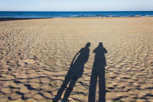 Sandstrand und Mittelmeer, Foto von Angela R., München zum Kommentar über die Ferienwohnung Valencia