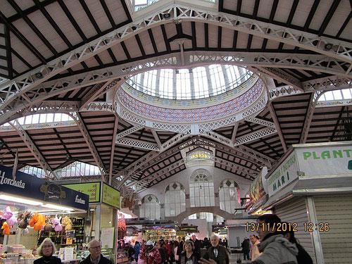 Markthalle Valencia, Spanien,  Mercado Central, Foto: R. Storck, www.strock-neustadt.de