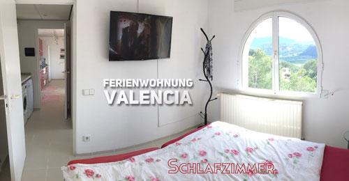 """""""Ferienwohnung Valencia"""", Schlafzimmer mit neuem TV, 2017"""