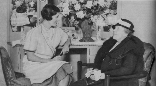 Irene with her mother, Adelaide Dunne, during the early Hollywood days.